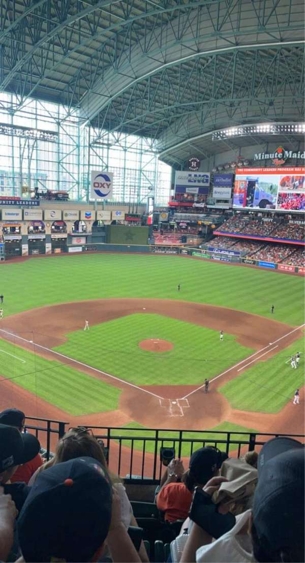 Minute Maid Park, section: 318, row: 4, seat: 7
