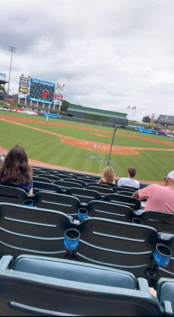 Dell Diamond, section: 119, row: 10, seat: 5