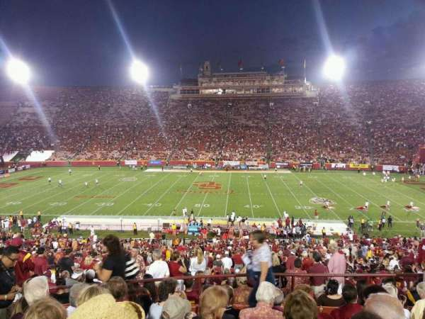 Los Angeles Memorial Coliseum, section: 22H, row: 50, seat: 105