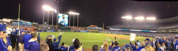 Kauffman Stadium, section: 114, row: F, seat: 5