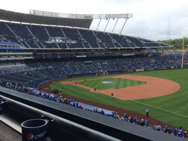 Kauffman Stadium, section: 322, row: A, seat: 5
