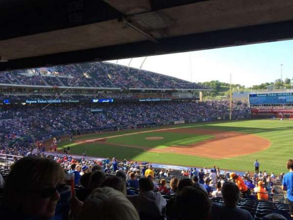 Kauffman Stadium, section: 239, row: PP, seat: 11