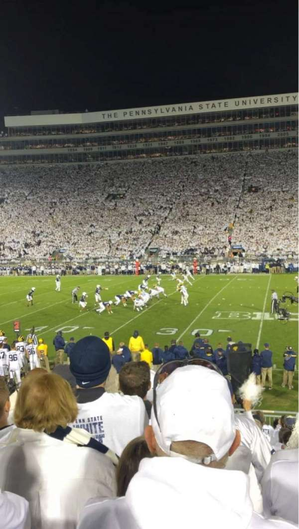 Beaver Stadium, section: WC, row: U, seat: 28