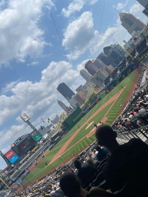 PNC Park, section: 117, row: AA, seat: 1