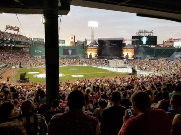 Fenway Park, section: Grandstand 18, row: 9, seat: 6
