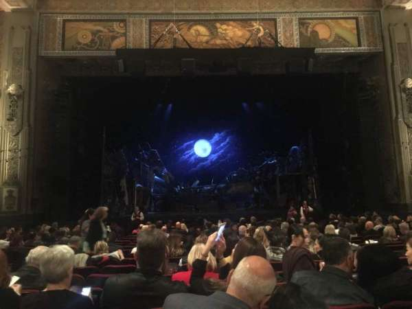 Hollywood Pantages Theatre, section: Orchestra C, row: U, seat: 109
