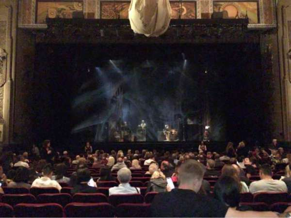 Hollywood Pantages Theatre, section: Orchestra C, row: V, seat: 108