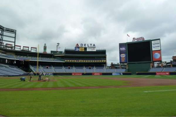 Turner Field, section: Dugout