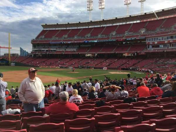 Great American Ball Park, section: 113, row: Y, seat: 15