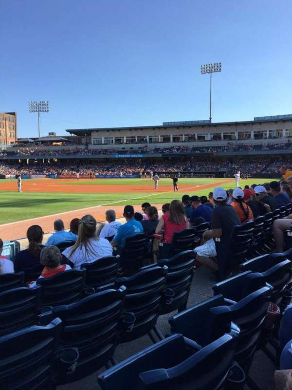Fifth Third Field, section: 102, row: G, seat: 6