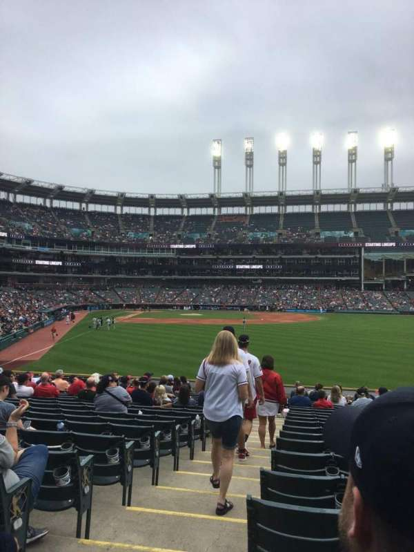 Progressive Field, section: 111, row: V, seat: 14