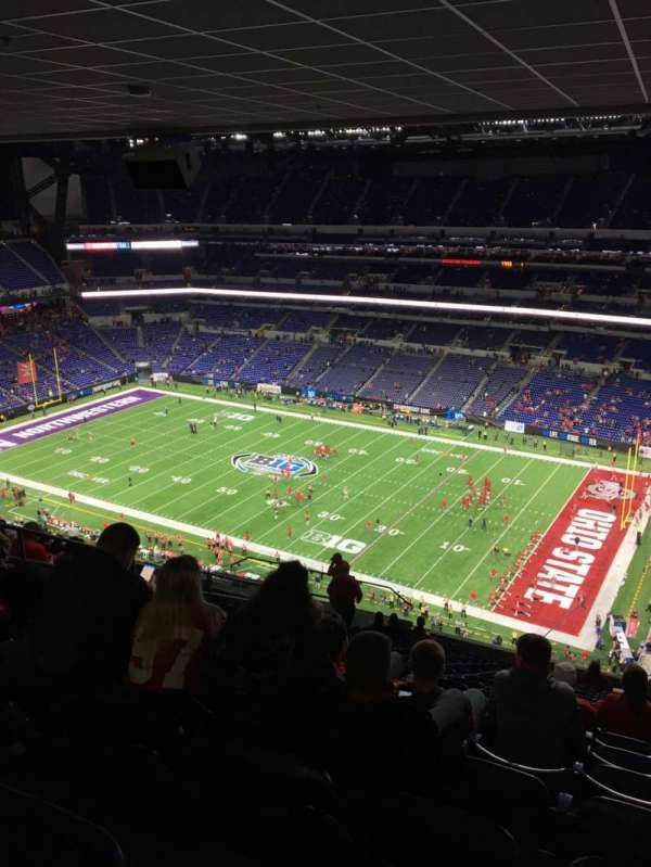Lucas Oil Stadium, section: 635, row: 18, seat: 15