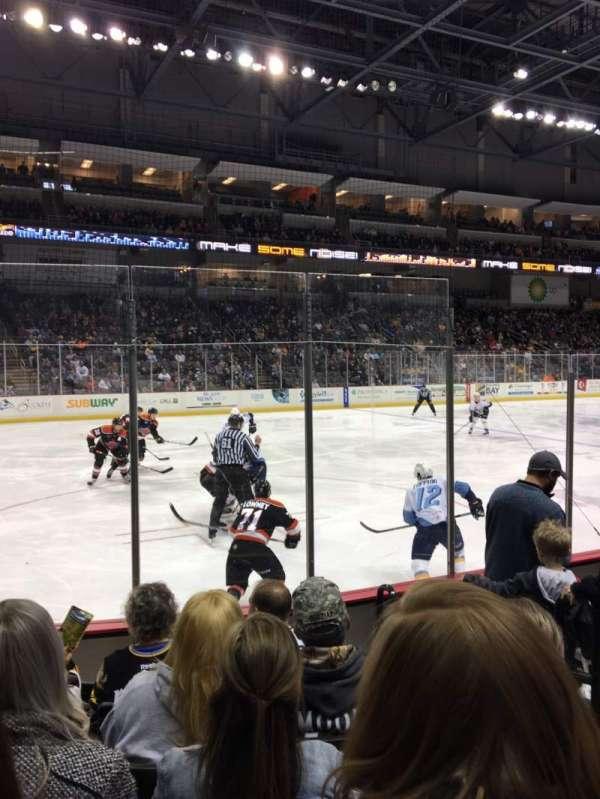 Huntington Center, section: 109, row: F, seat: 3