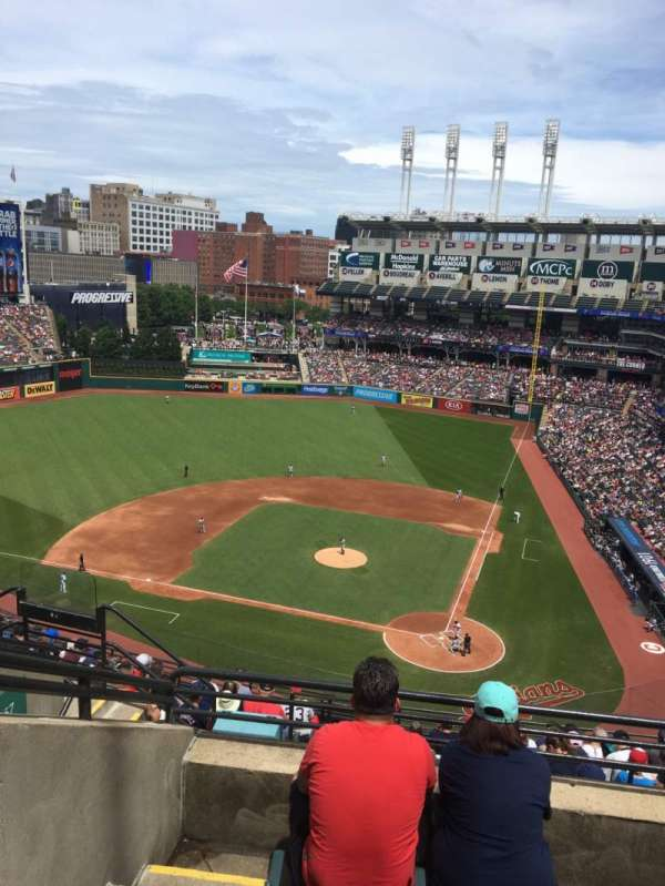 Progressive Field, section: 537, row: H, seat: 17