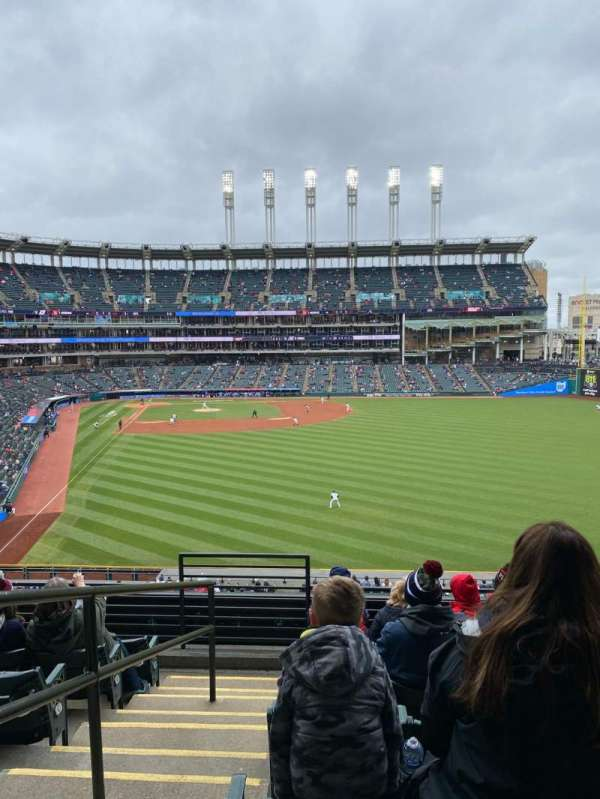 Progressive Field, section: 309, row: G, seat: 24