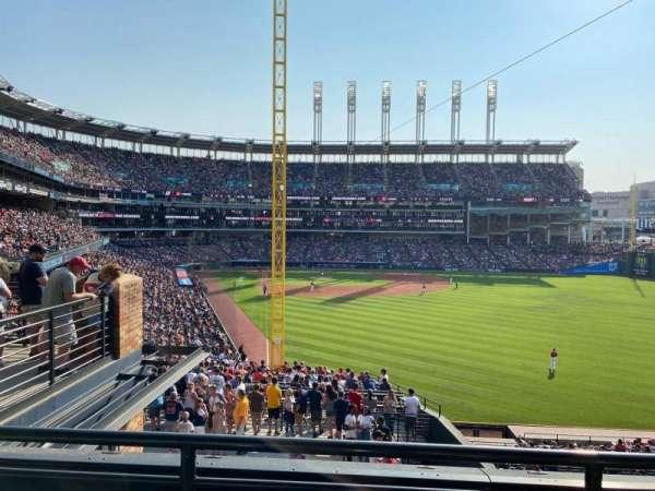 Progressive Field, section: 316, row: B, seat: 6