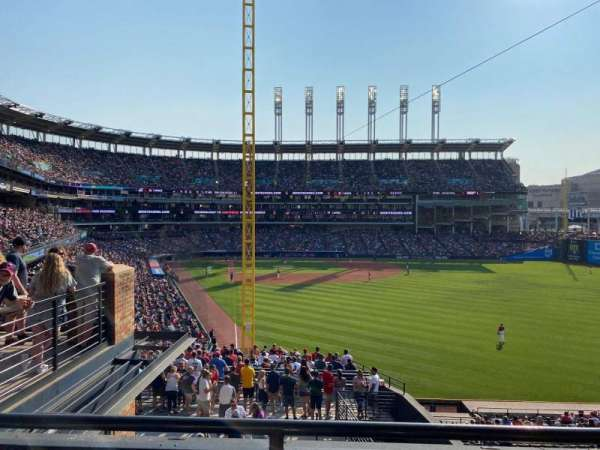 Progressive Field, section: 316, row: B, seat: 7