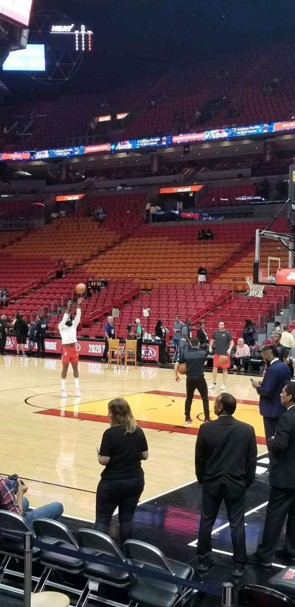 American Airlines Arena, section: 105, row: 5, seat: 10