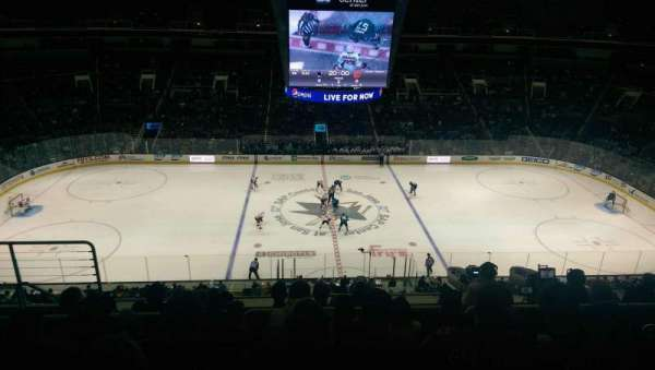 SAP Center, section: 215, row: 8, seat: 19