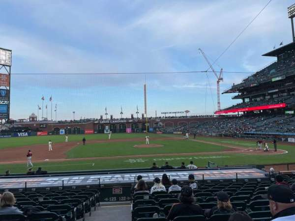 Oracle Park, section: 122, row: L, seat: 16