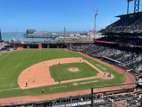 Oracle Park, section: VR324, row: C, seat: 3