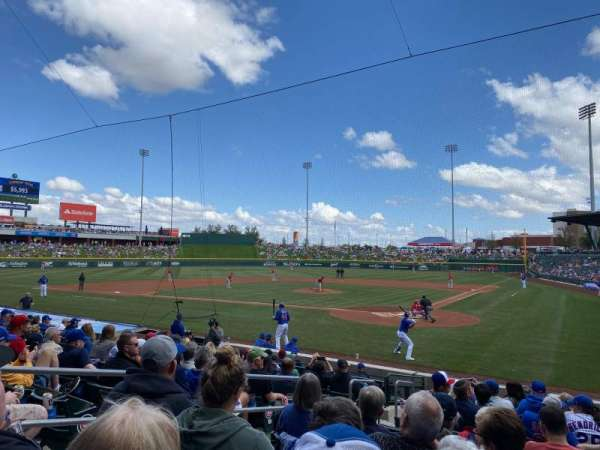 Sloan Park, section: 110, row: 14, seat: 3
