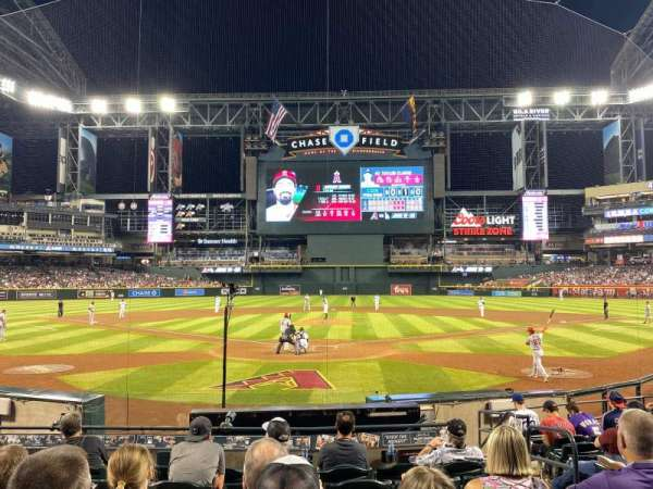Chase Field, section: J, row: J, seat: 4