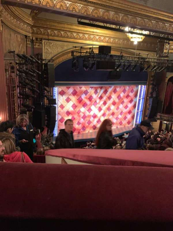 Brooks Atkinson Theatre, section: Rear Mezzanine L, row: H, seat: 11