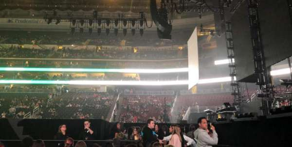 Prudential Center, section: 10, row: 1, seat: 5