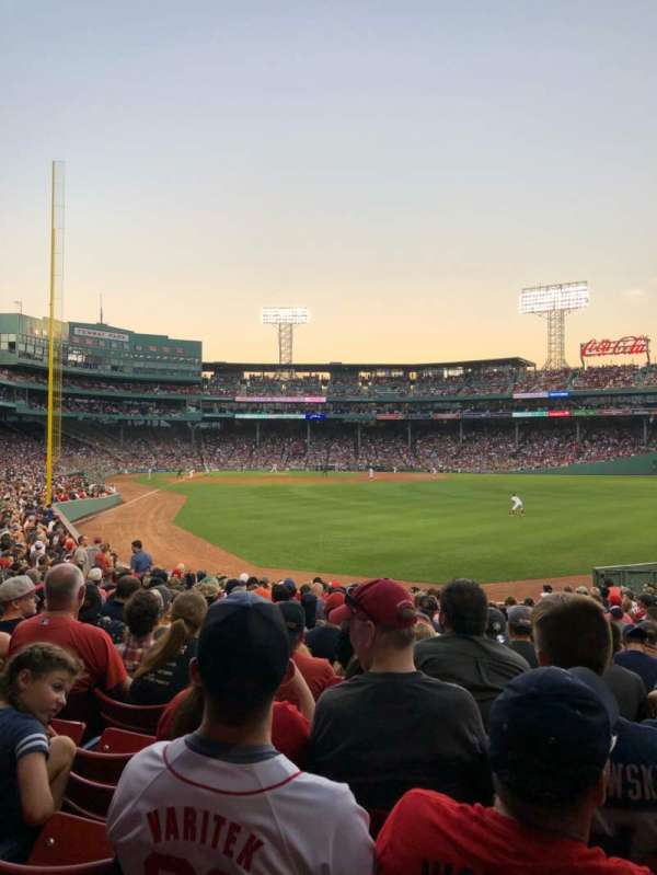 Fenway Park, section: Right Field Box 89, row: MM, seat: 7
