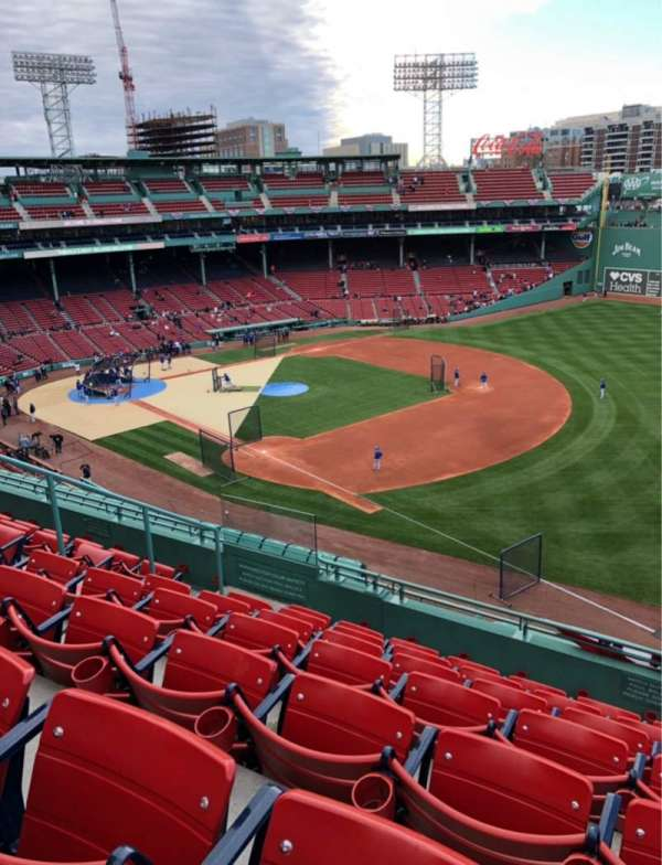 Fenway Park, section: Pavilion 15, row: G