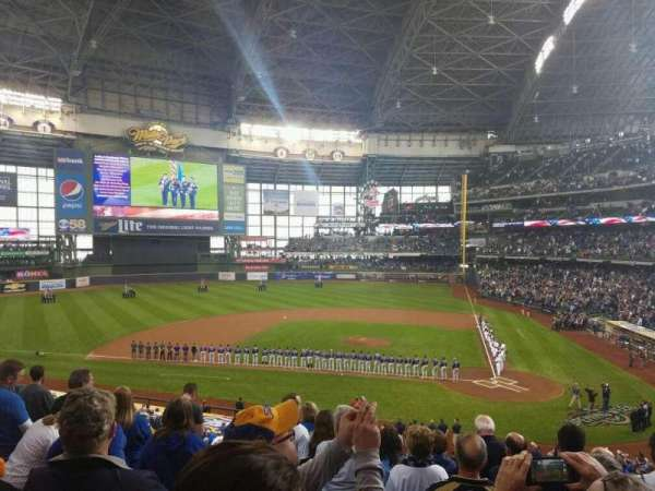Miller Park, section: 222, row: 8, seat: 10