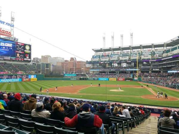 Progressive Field, section: 158, row: GG, seat: 15