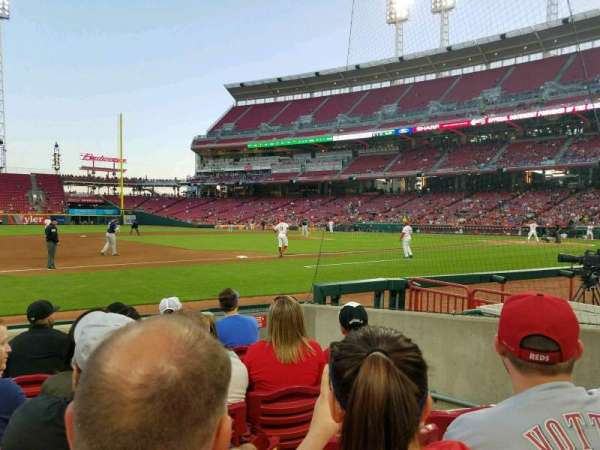 Great American Ball Park, section: 114, row: G, seat: 4