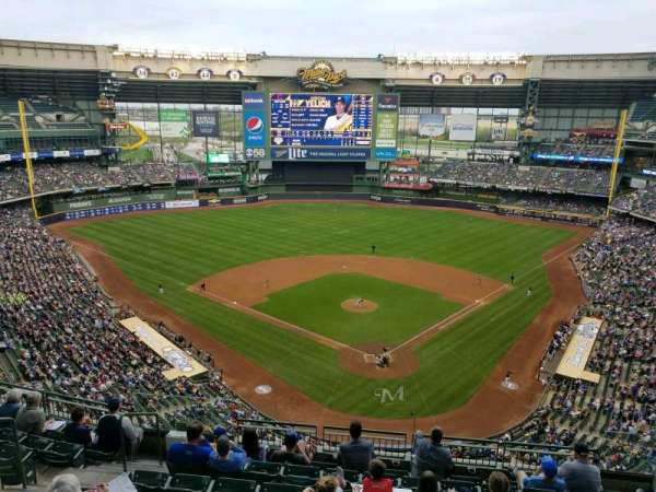 Miller Park, section: 423, row: 8, seat: 9