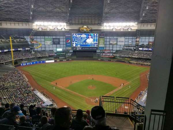 Miller Park, section: 423, row: 14, seat: 3