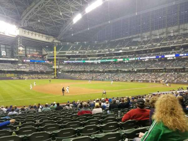 Miller Park, section: 125, row: 22, seat: 6