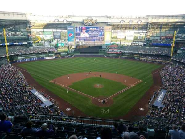 Miller Park, section: 423, row: 8, seat: 5