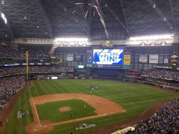 Miller Park, section: 418, row: 2, seat: 4