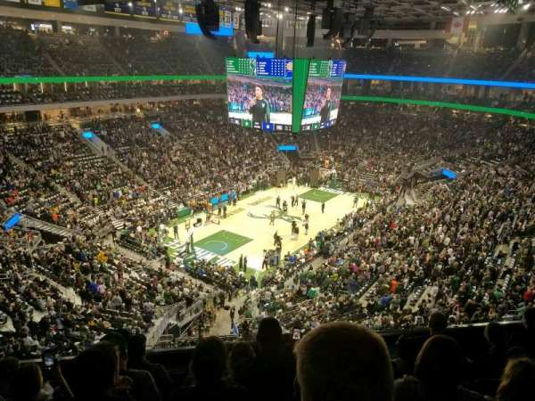 Fiserv Forum, section: 212, row: 5, seat: 17