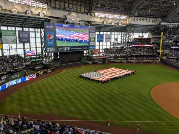 Miller Park, section: 433, row: 1, seat: 8