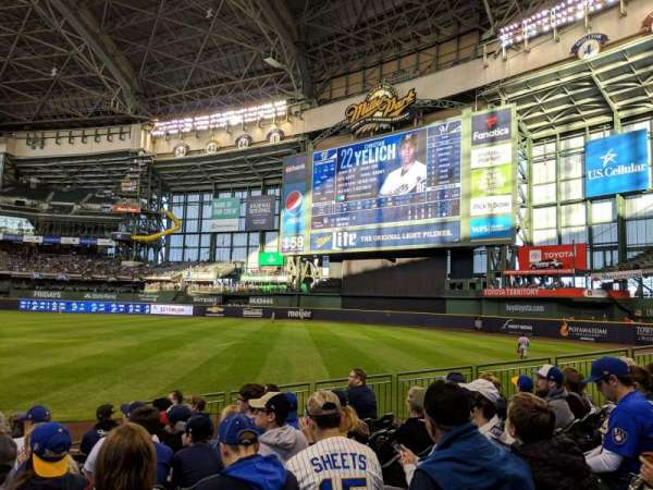 Miller Park Section 109 Home Of Milwaukee Brewers