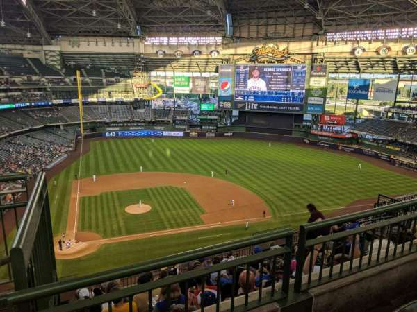 Miller Park, section: 417, row: 9, seat: 1