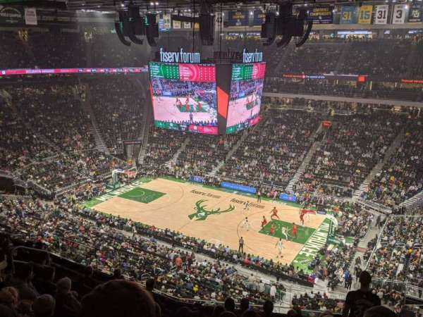 Fiserv Forum, section: 206, row: 9, seat: 7