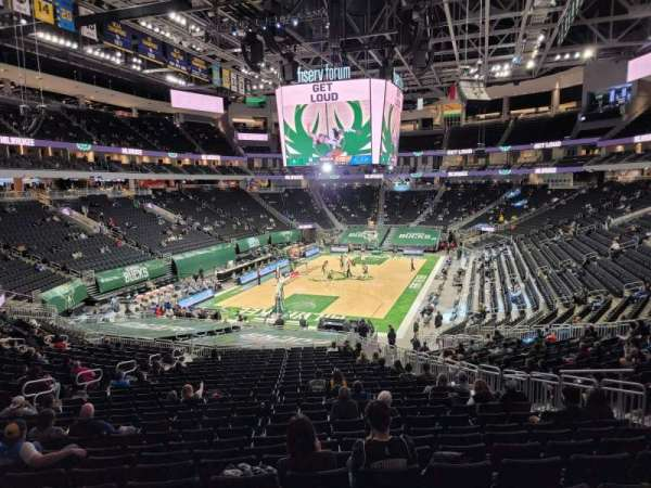 Fiserv Forum, section: 110, row: 28, seat: 9