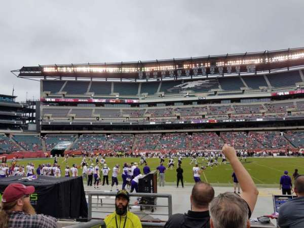 Lincoln Financial Field, section: 101, row: 4, seat: 1