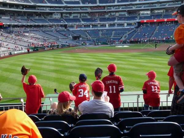 Nationals Park, section: 140, row: G