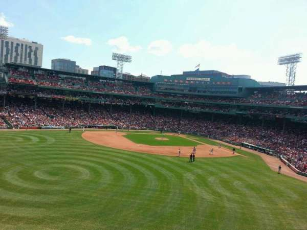 Fenway Park, section: monster 8, row: 2, seat: 7