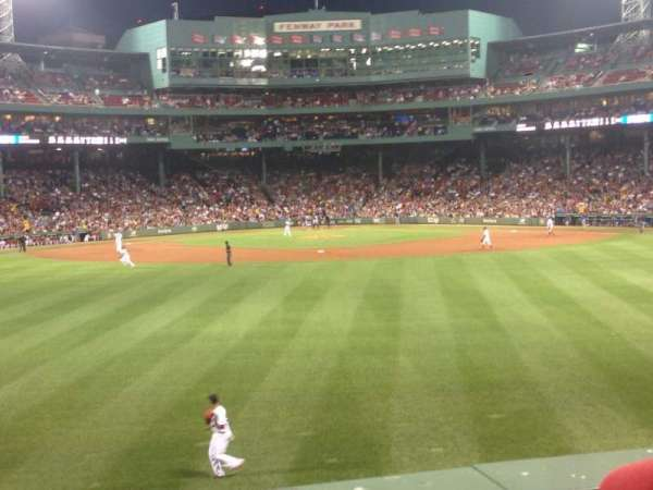 Fenway Park, section: Bleacher 35, row: 2, seat: 5
