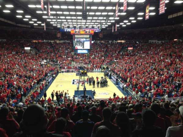 McKale Center, section: MI 9, row: 25